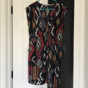 Tribal dress with tie waist